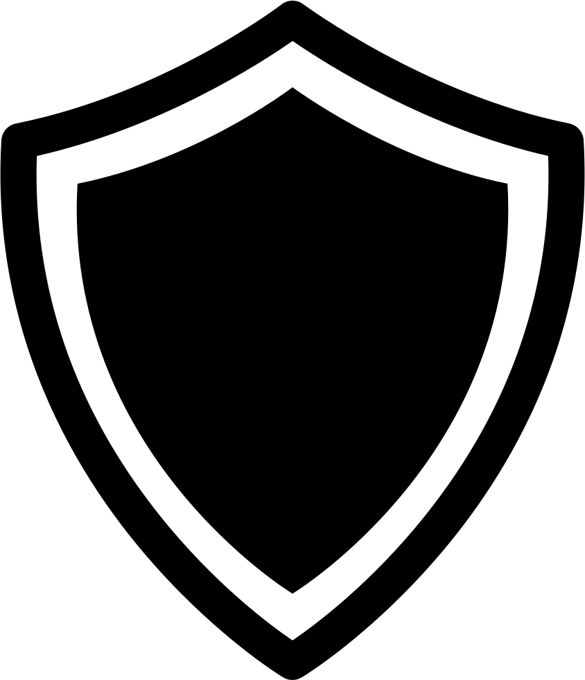 Shield Variant With White And Black Borders