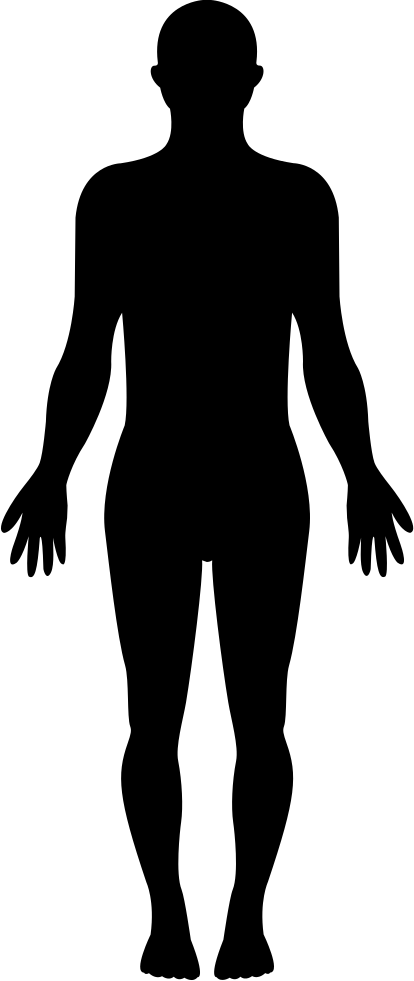 Standing Human Body Silhouette Svg Png Icon Free Download ... Human Body Icon Png