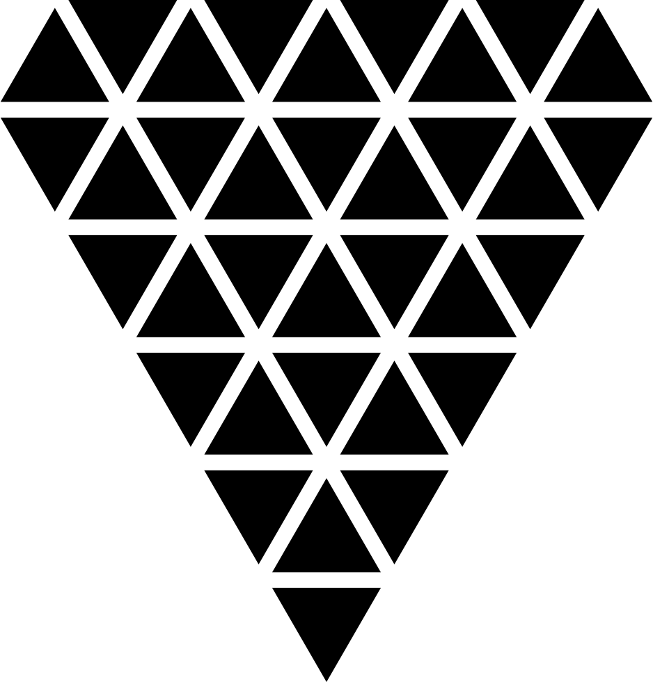 Polygonal Diamond Shape Of Small Triangles