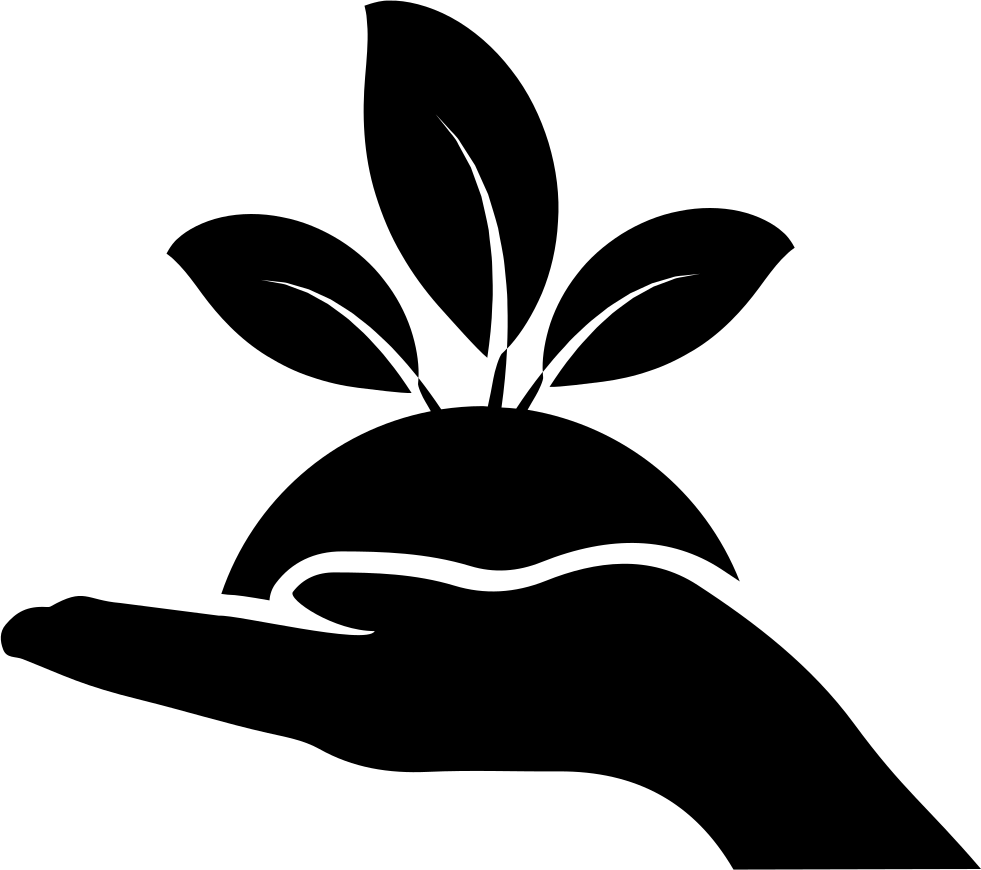 plant on a hand svg png icon free download 35711