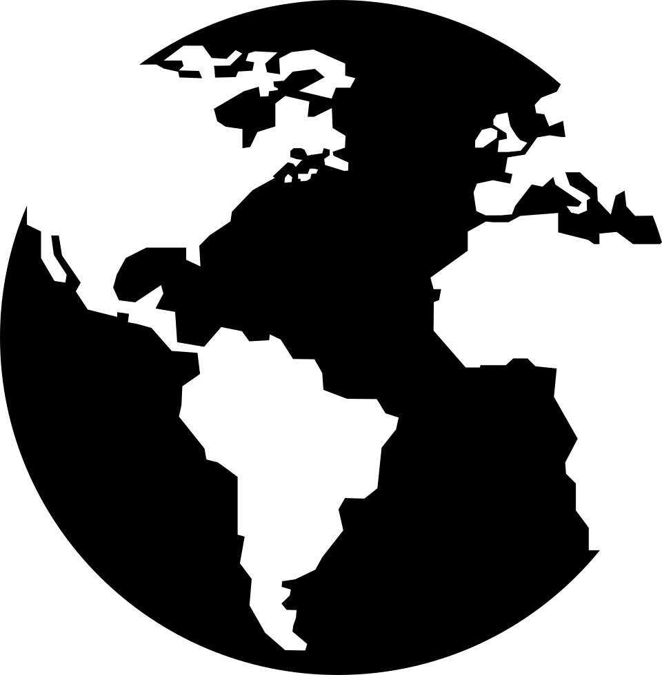 Earth Globe With Continents Maps Svg Png Icon Free ...