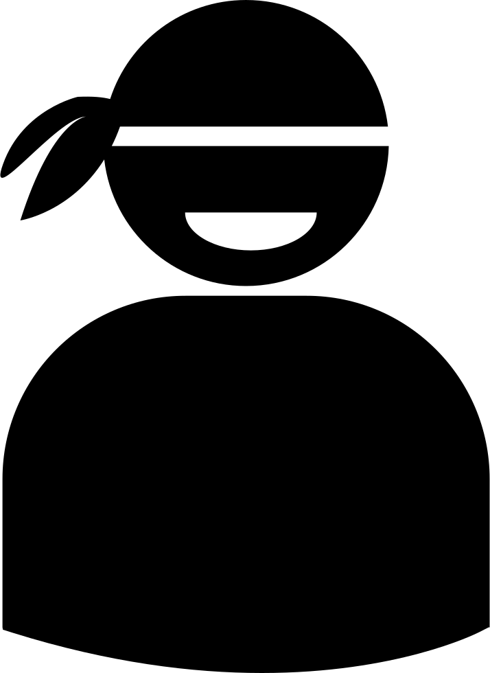 Male With Bandana Silhouette