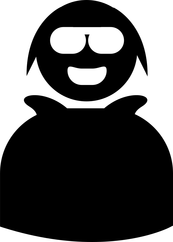 Happy Young Smiling Person With Glasses