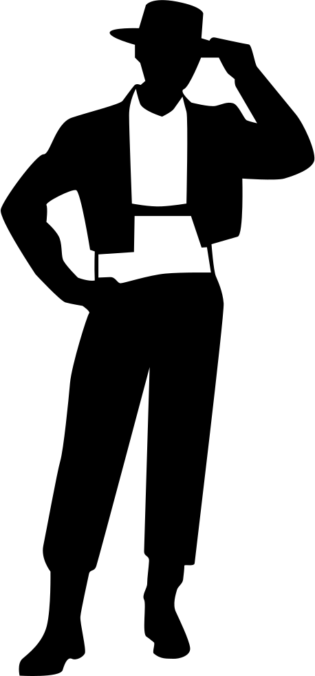 Flamenco Male Model Standing Frontal Symbol