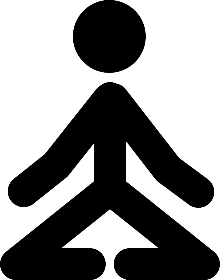 Stick Man In Yoga Position