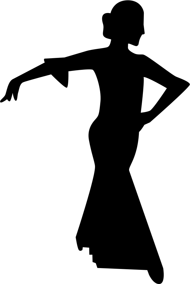 Flamenco Female Dancer Silhouette