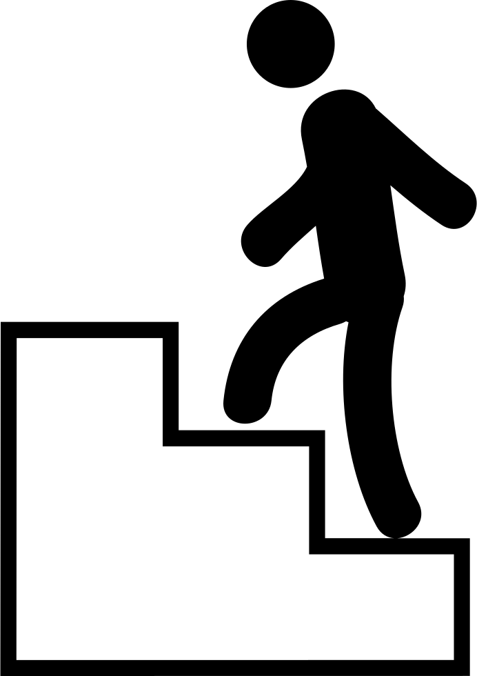 Man Climbing Stairs Svg Png Icon Free Download 37936