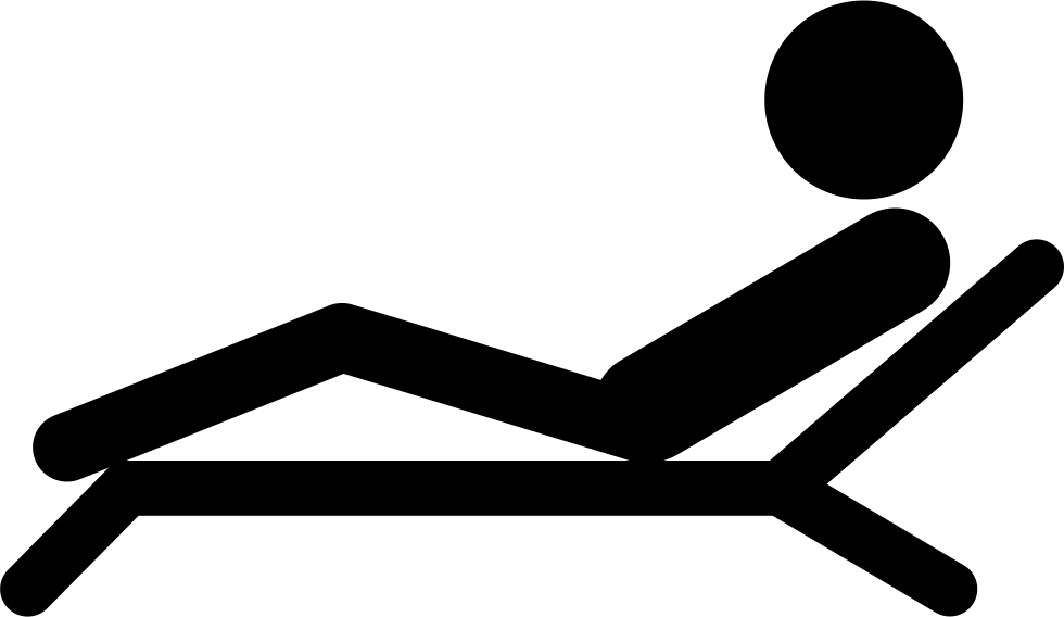 Man Lying On A Deck Chair Of A Spa