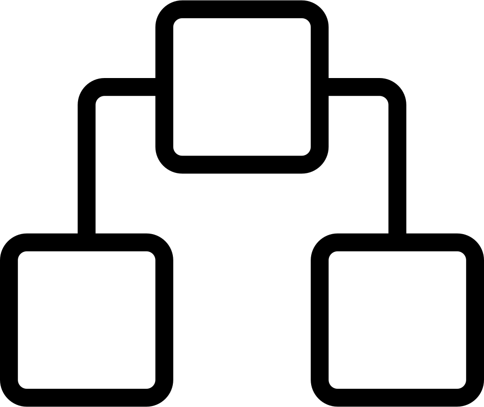 Network Outline Symbol In A Circle