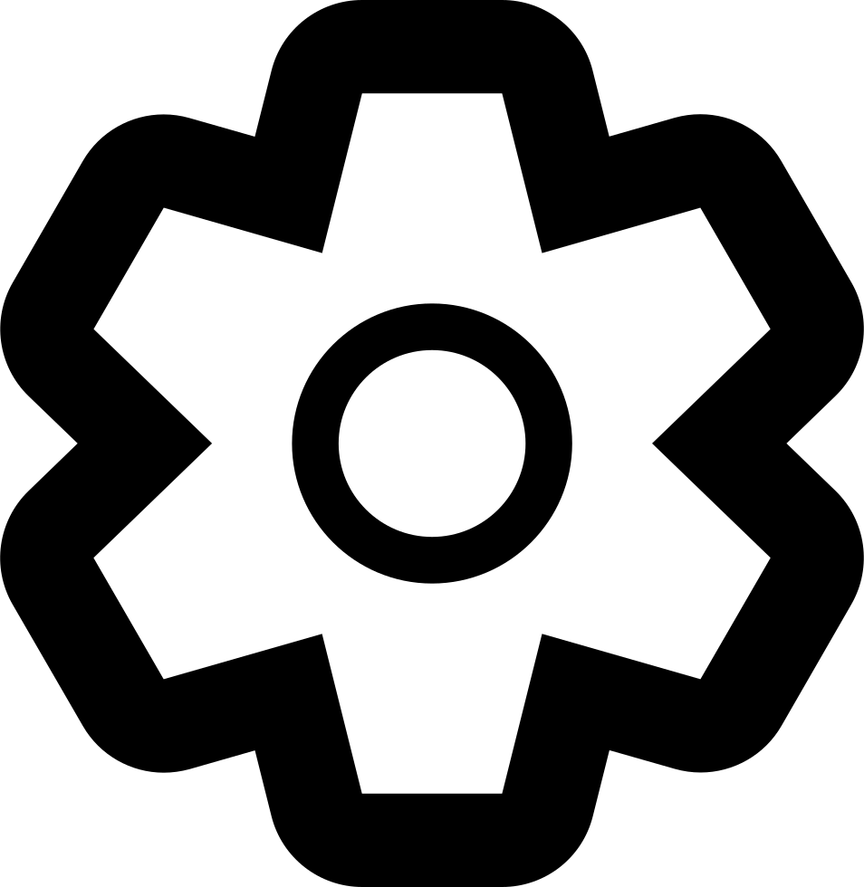 Cog-outline