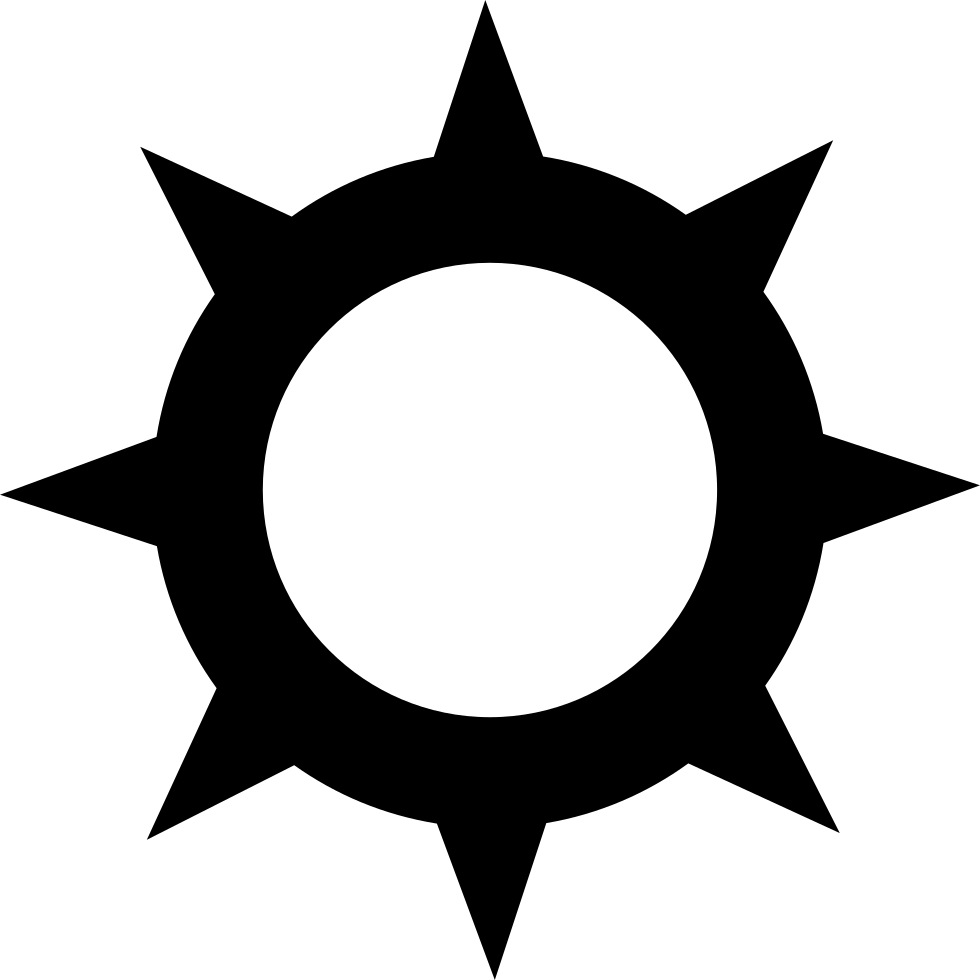 Sun Outline With Spikes At The Edges