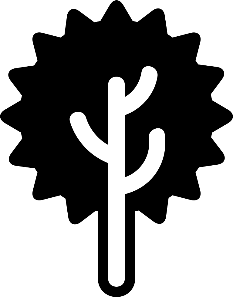 Tree Of Radial Foliage Shape