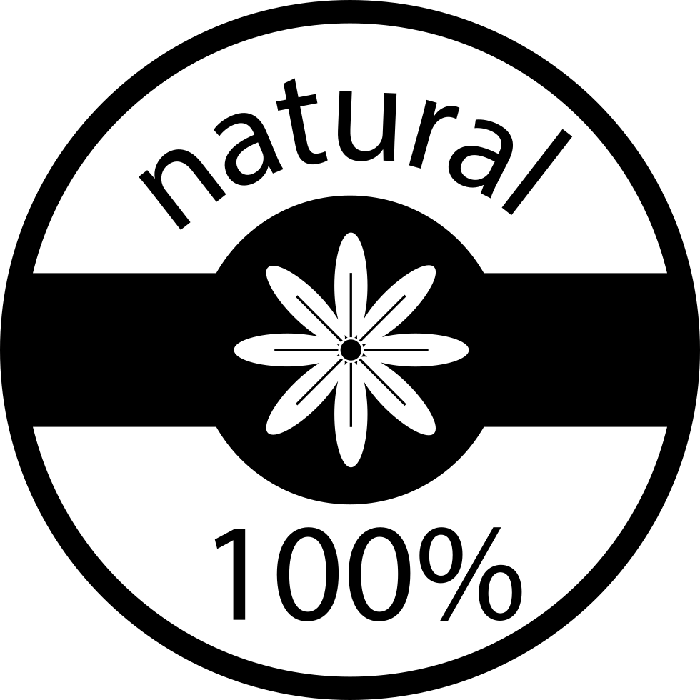 100 % Natural Badge