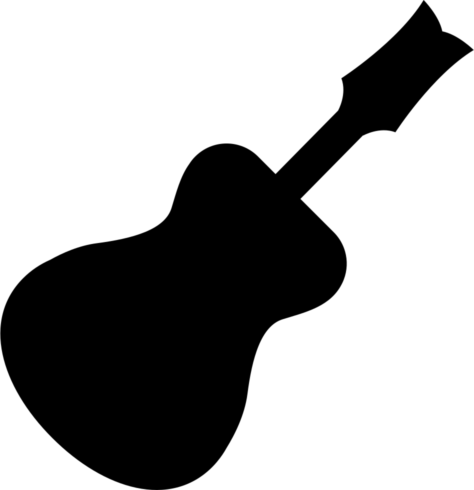 Traditional Guitar Black Silhouette Shape