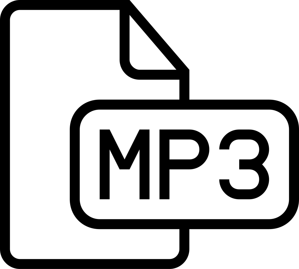 Mp3 Audio File Outlined Interface Symbol