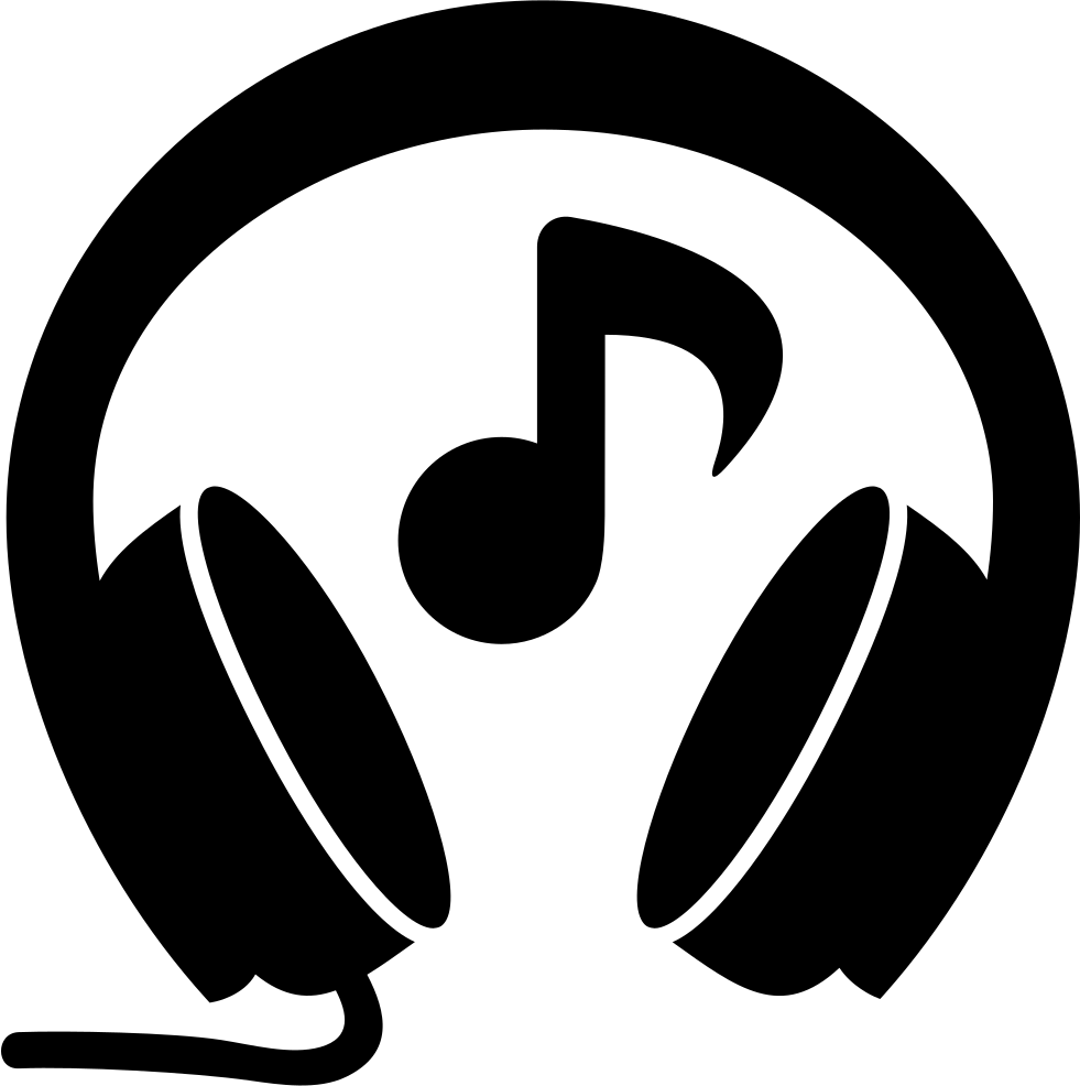 headphones with music note svg png icon free download