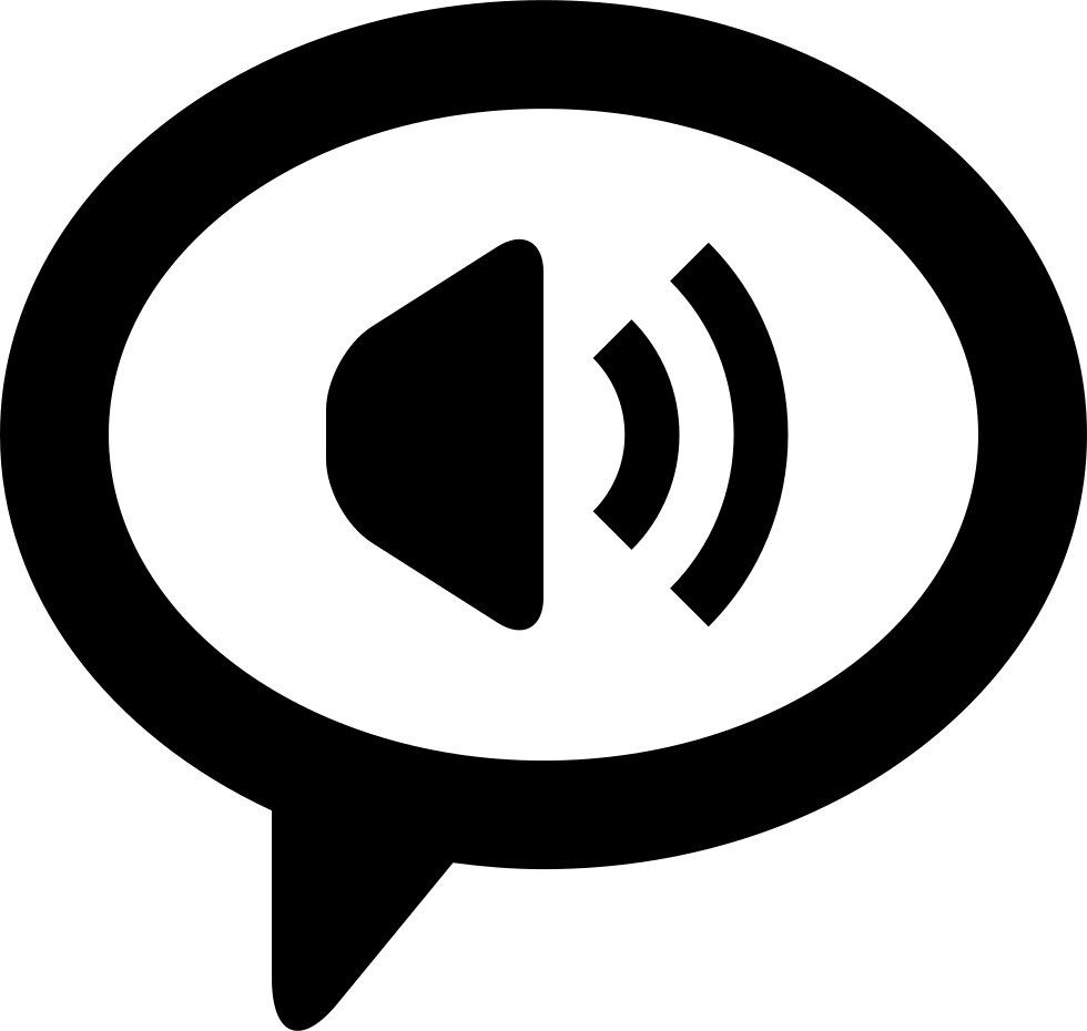 Speaker Inside A Dialogue Symbol