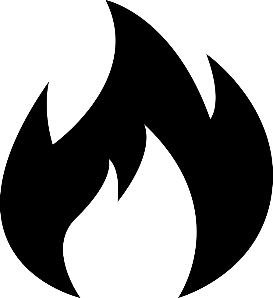 Black Flame Icon PNG Transparent Background, Free Download ...  |Black Flame Icon
