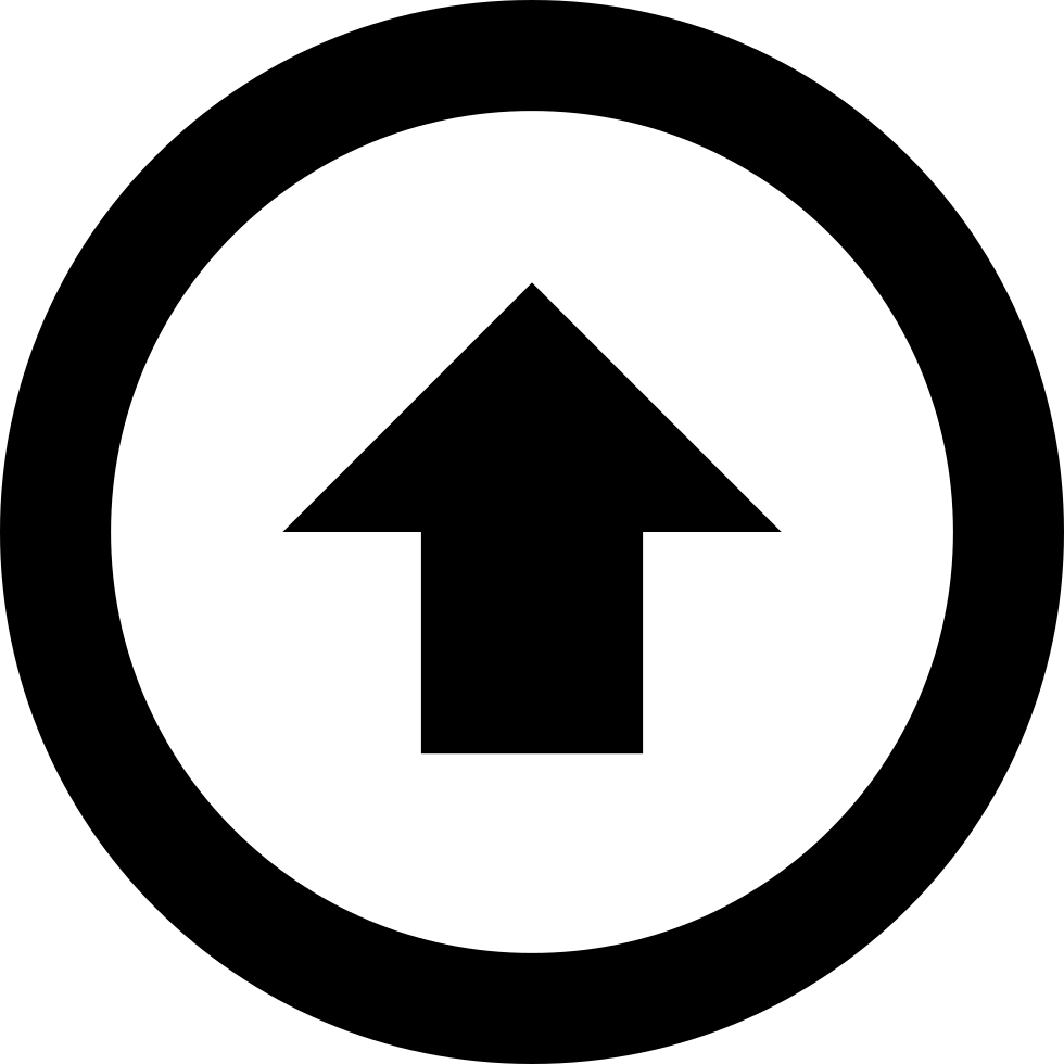 Arrow With Circle Up