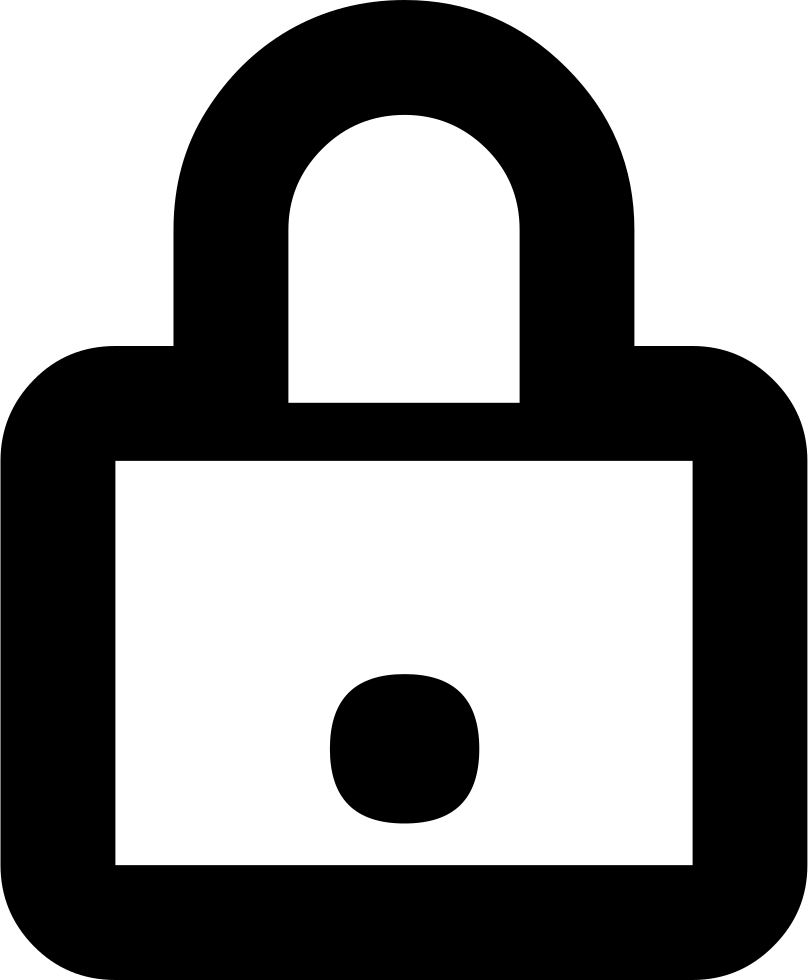 Lock Closed Outline