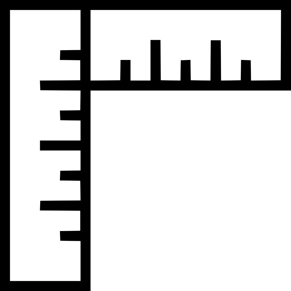 Right Angle Ruler Editor Measurement Alignment Graphic