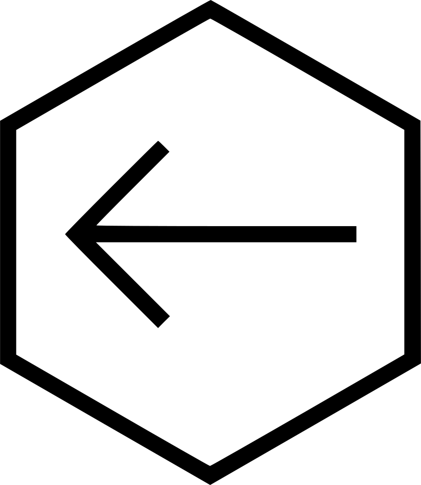 A Back Backward Left Direction Hexagon