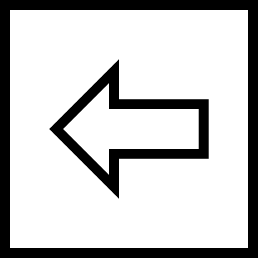 Back Backward Left Direction Square