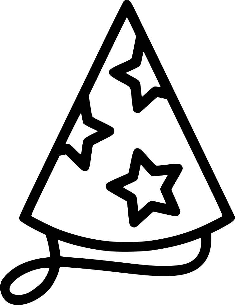 Black And White Hat Part : Party hat svg png icon free download