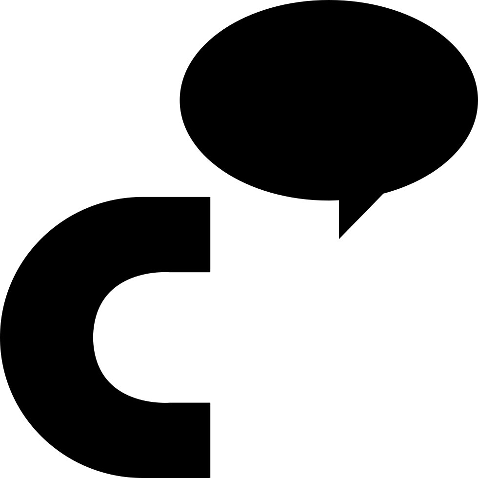 Cinch Logo Of Letter C With An Oval Speech Bubble