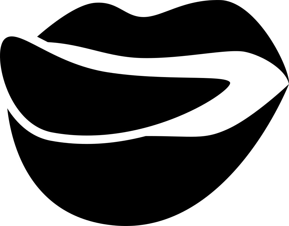 Foodilicious Logo Of Mouth Lips With Tongue