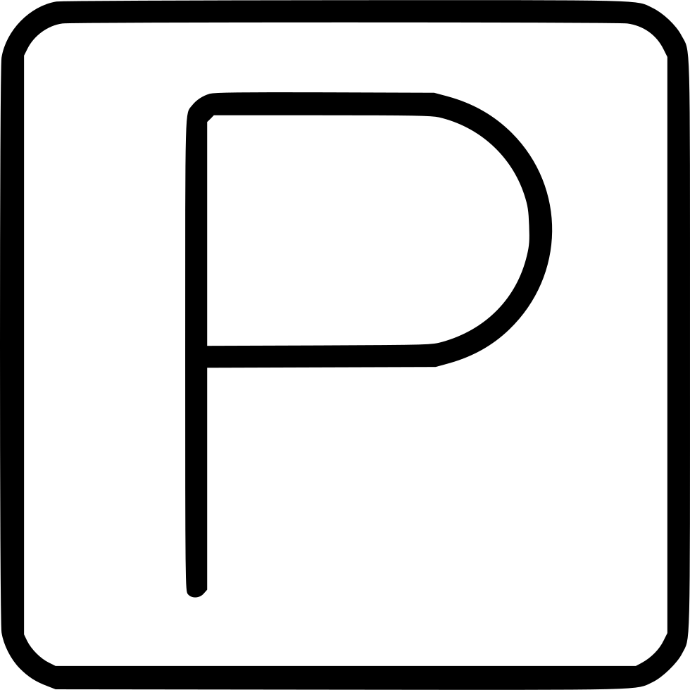 Park Sign Parking Square
