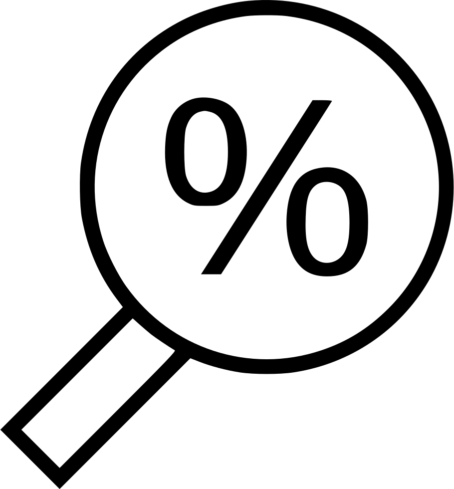 Find Look Search Percentage Percent Interest Rate