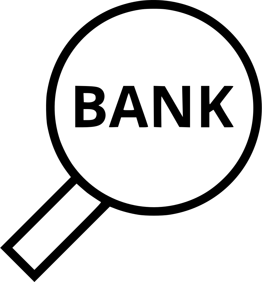 Banking Bank Search Look Find Magnifying Glass