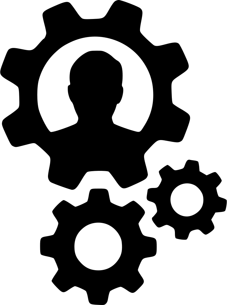 Gears User Person Cogs Settings Configure Productivity