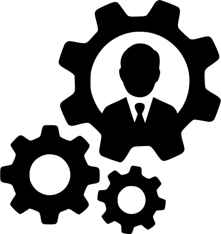 Man User Account Gears Productivity Management Work Svg Png Icon ...