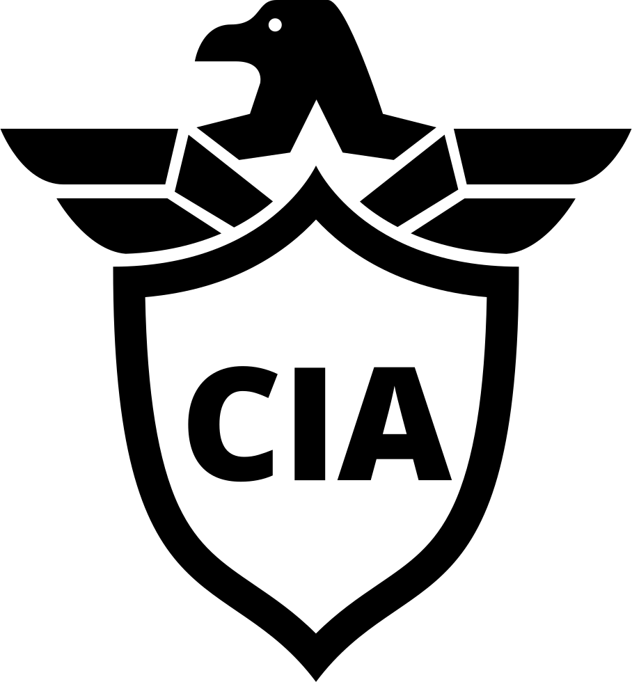 CIA Shield Symbol With An Eagle