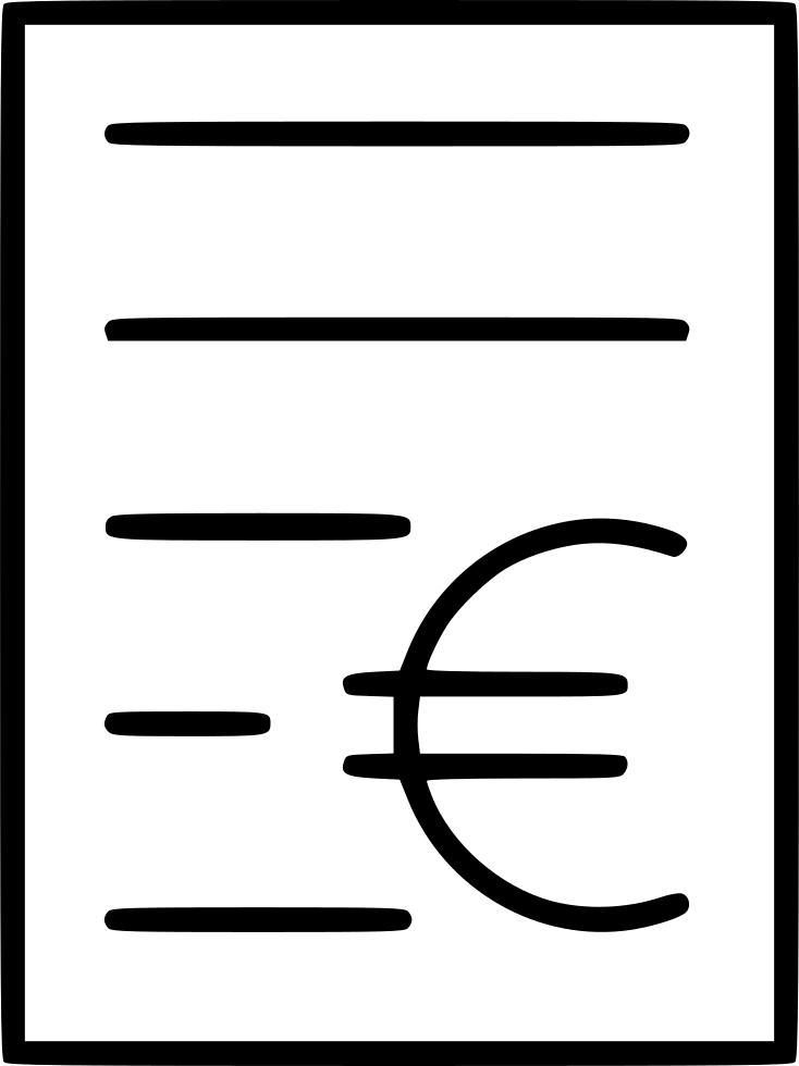 Bill Purchase Invoice Receipt Euro