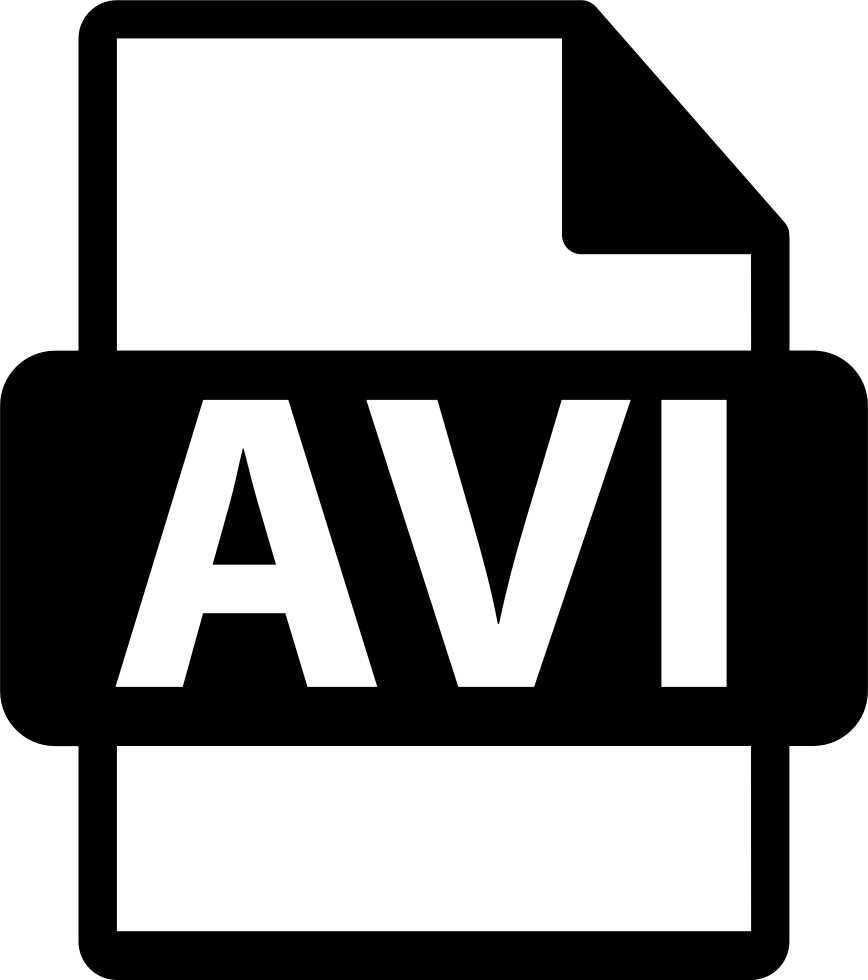 Avi Video File Format Symbol