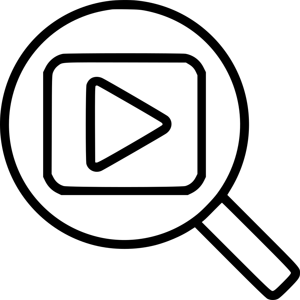 Video Search Svg Png Icon Free Download (#463428) - OnlineWebFonts.COM