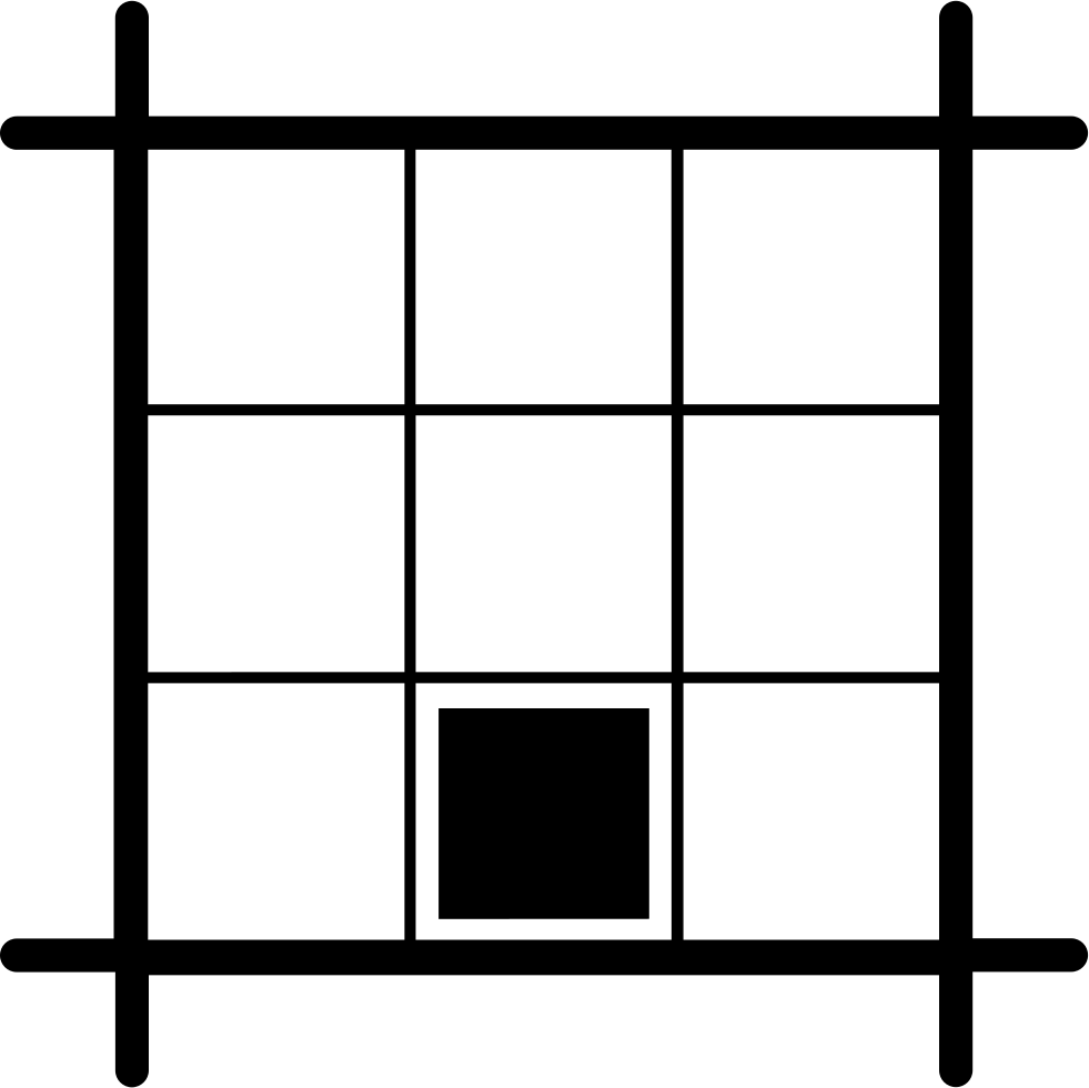 Layout Square With Black Square At Southmost Center