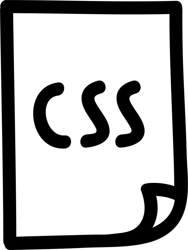 Css File Hand Drawn Outline
