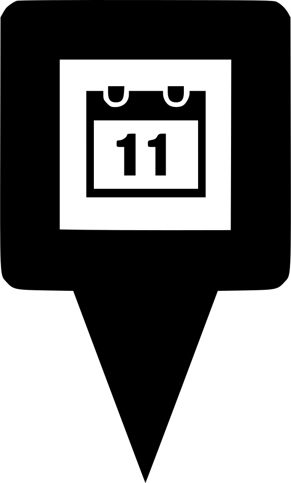 Map Pin Icon Date Calandor