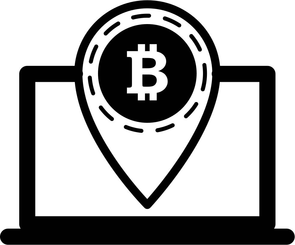 Bitcoin Symbol Placeholder In Laptop