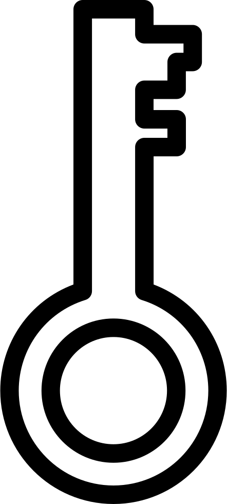 Key Outline Password Interface Symbol Inside A Circle