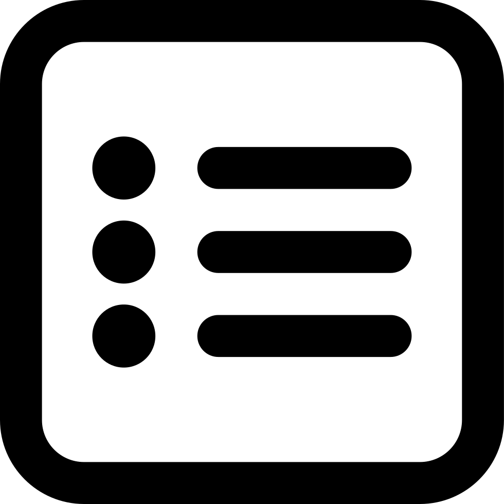 List Square Rounded Interface Symbol