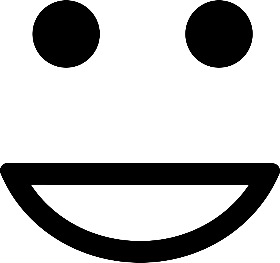 Emoticon Square Face With A Smile