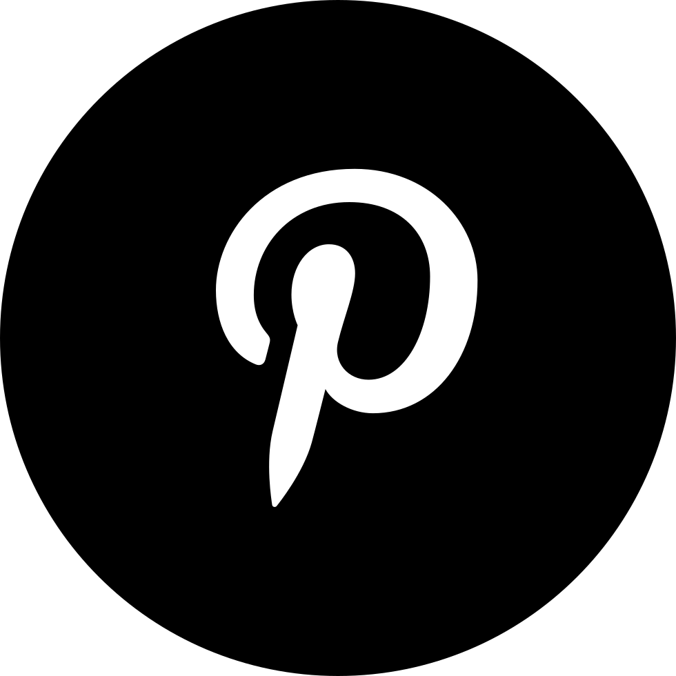 Pinterest Letter Logo Inside A Circle