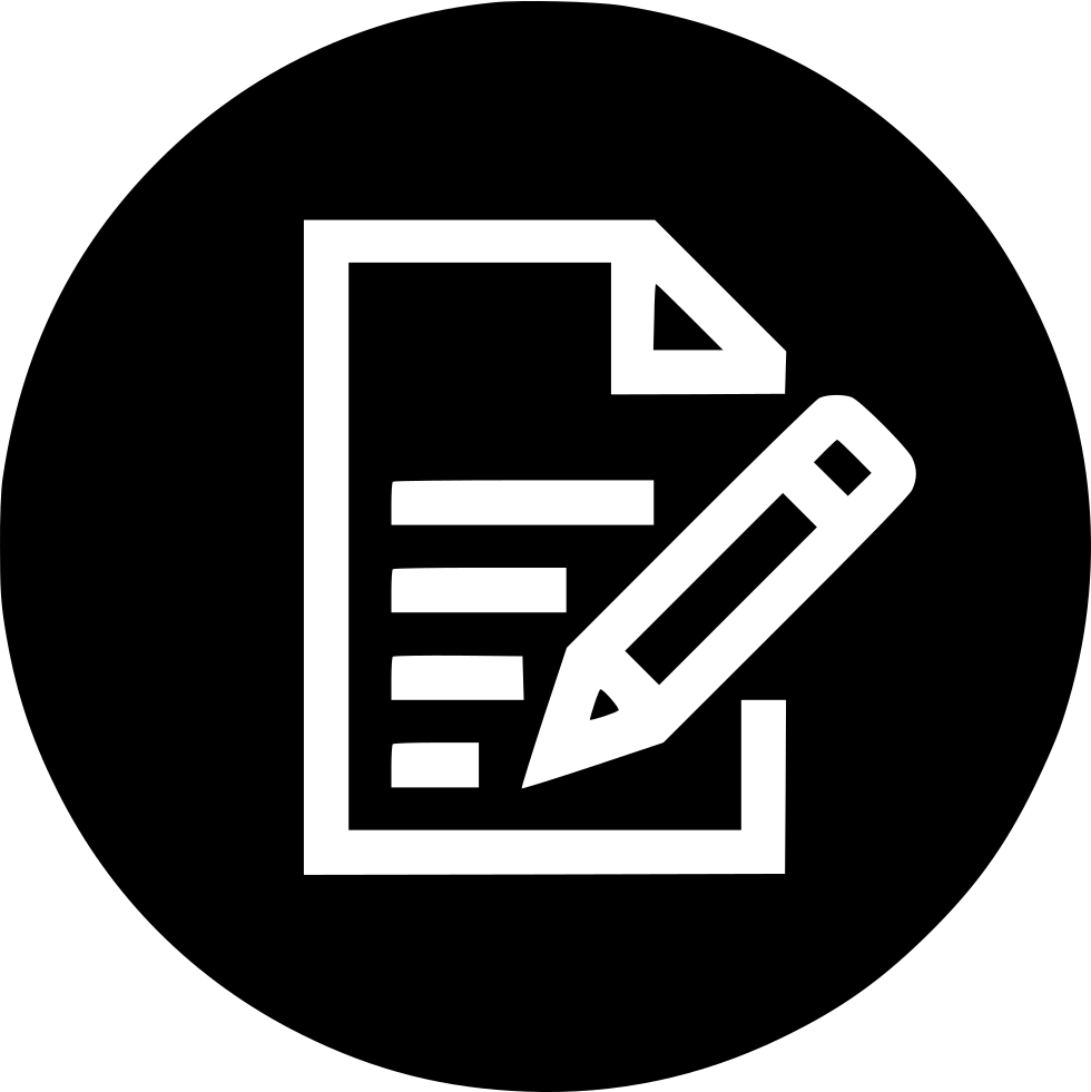 Note Pencile Memo Pen Notebook Book Write Svg Png Icon ...