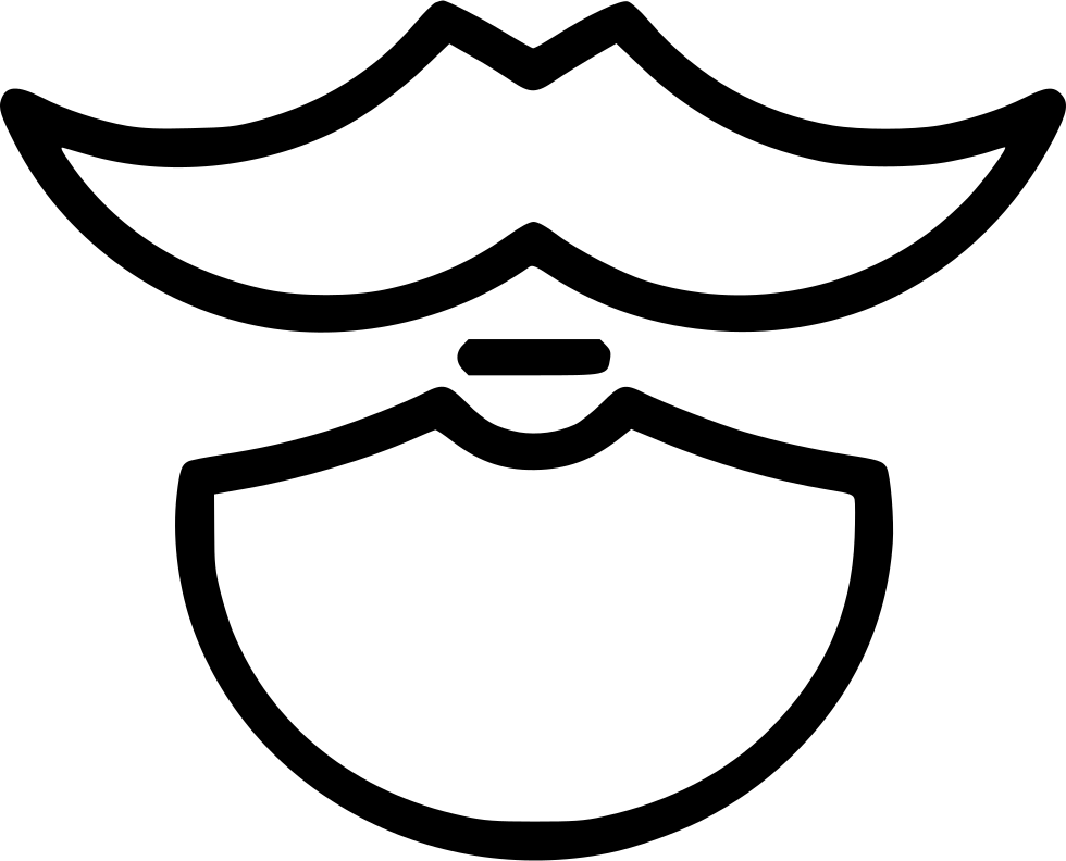 Beard Moustache Man Hairstyle Round