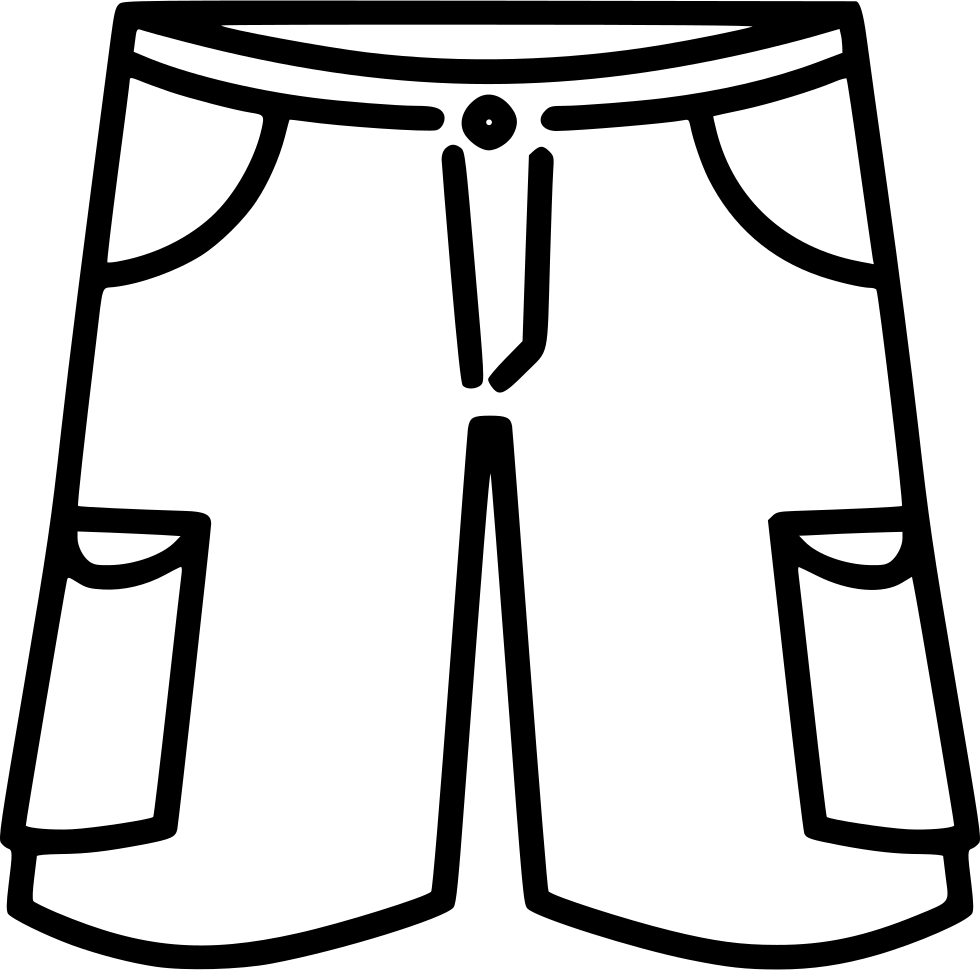 Basketball Shorts Outline Sketch Coloring Page